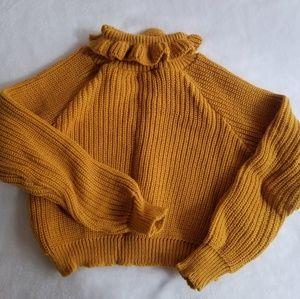 mustard cropped sweater